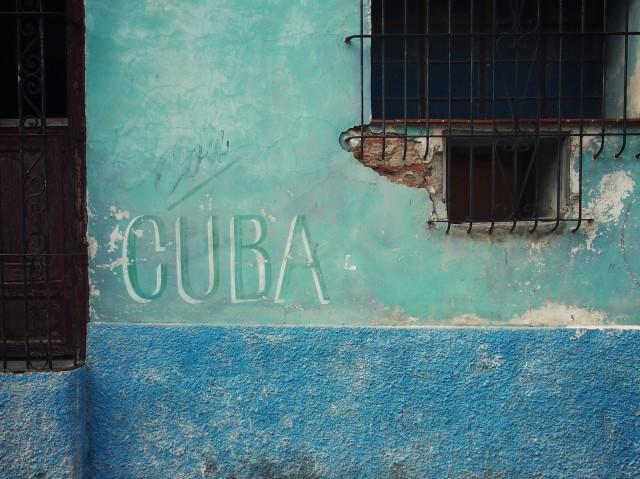 Blue Green Wall with Cuba Sign Balint Foldesi Flickr