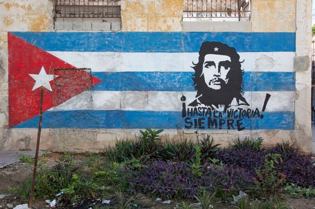 Che and Flag Mural Carol M Highsmith Col LOC