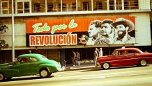 Old Cars with Revolution Sign Jaume Escofet Flickr
