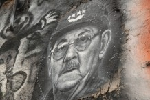 Raul Castro Wall Portrait Thierry Ehrmann Flickr