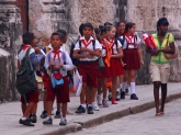 School Children Havana Street